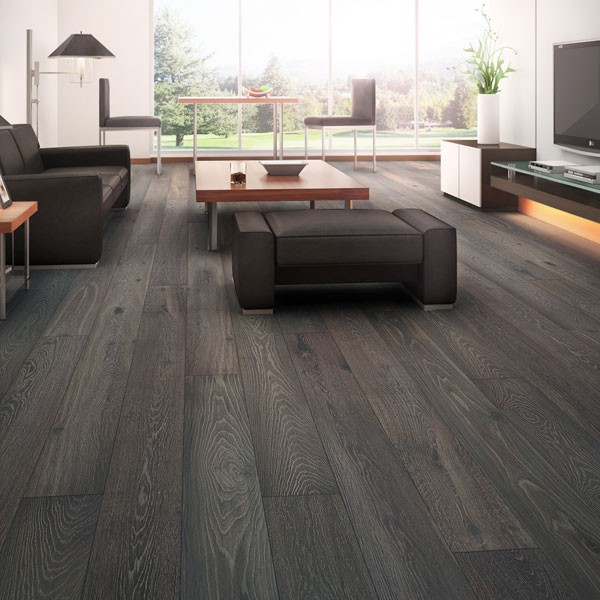 Water On Prefinished Hardwood Floors: Oak Engineered Prefinished Fumed Wire-Brushed €�Landscape