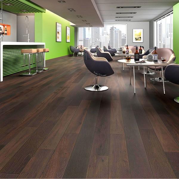 Oak engineered prefinished wire brushed landscape for Hardwood flooring retailers